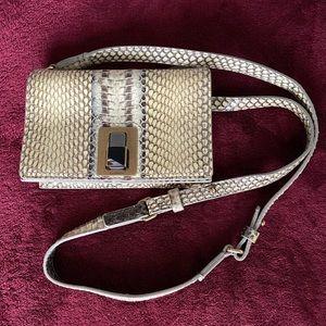 Lanvin exotic snake skin cross body bag